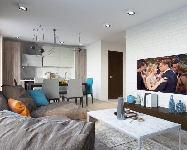 Дизайн интерьера гостиной - 15