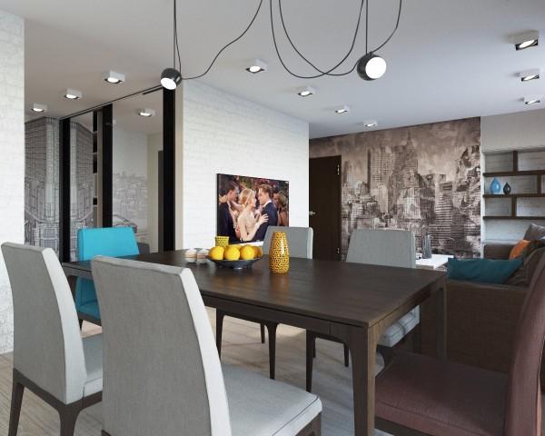 Дизайн интерьера гостиной - 16
