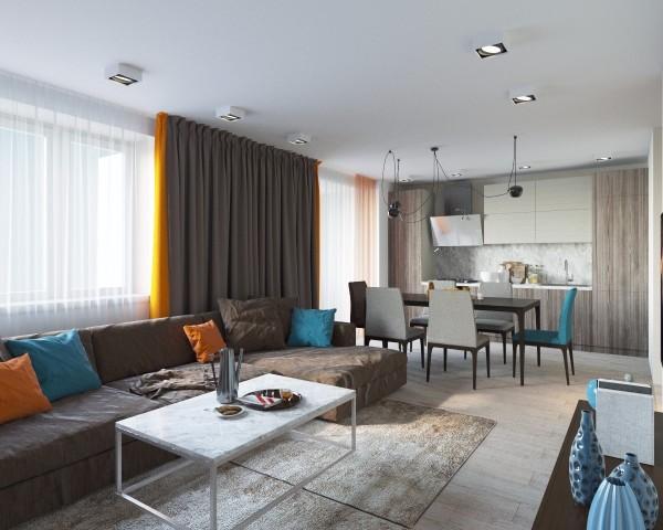 Дизайн интерьера гостиной - 17
