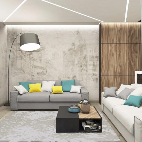 Дизайн интерьера гостиной - 18