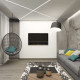 Дизайн интерьера гостиной - 19