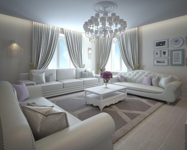 Дизайн интерьера гостиной - 22