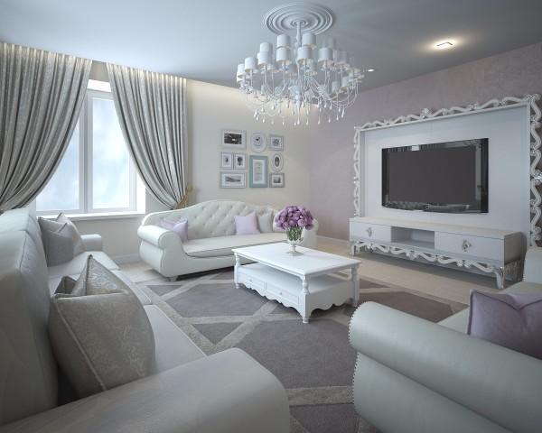 Дизайн интерьера гостиной - 23