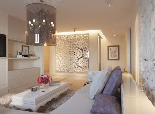 Дизайн интерьера гостиной - 14
