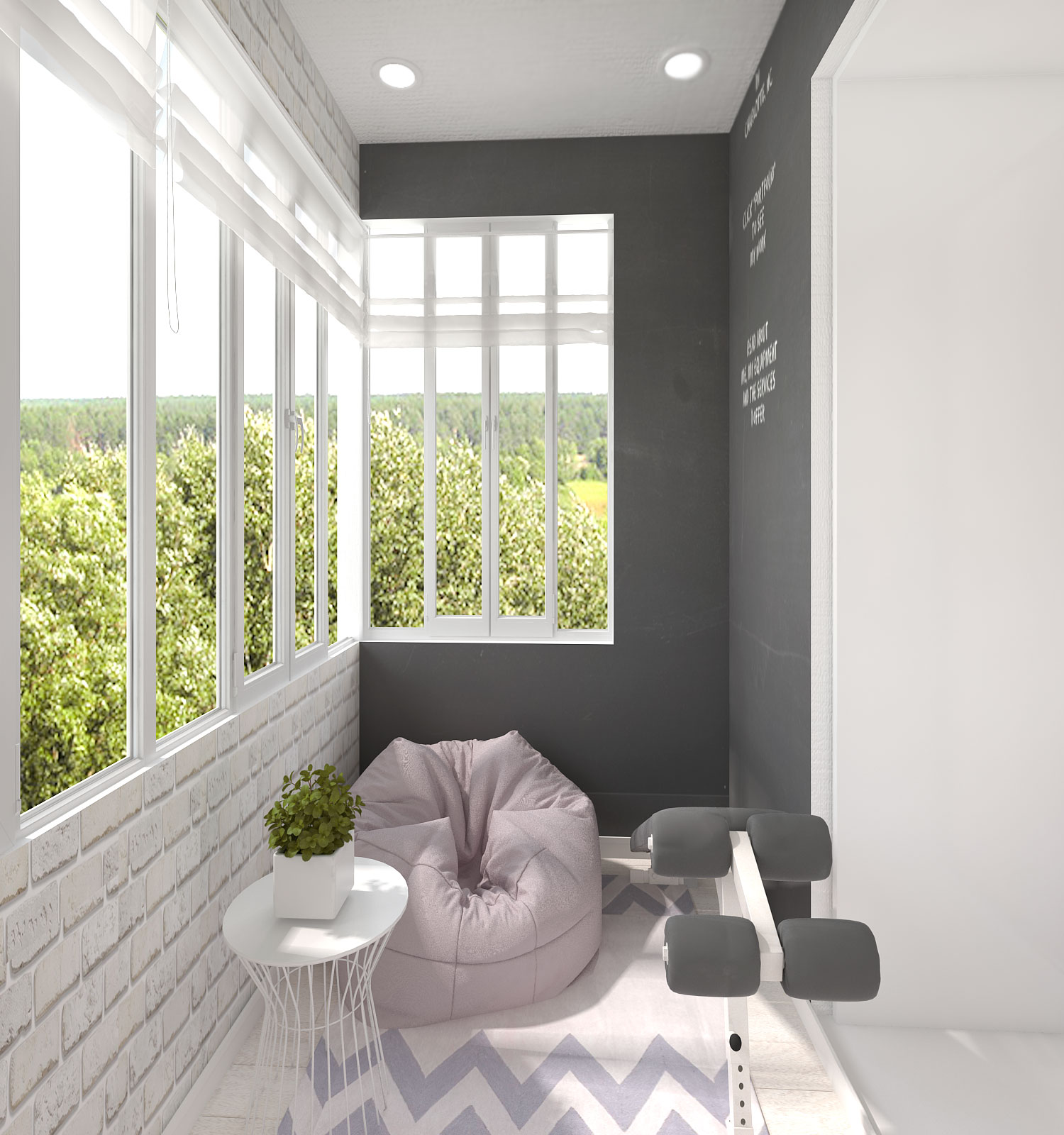 Балкон — квартира на ул. Васильевский пер. дом 5, г. Рязань