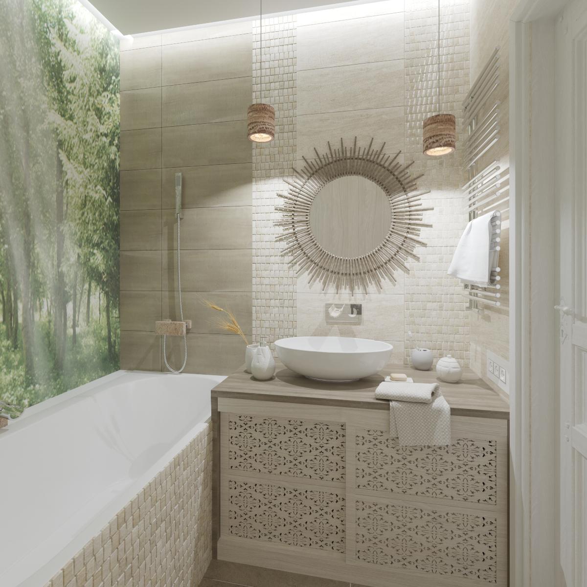 Ванная в ЖК «Лайт-сити», Рязань