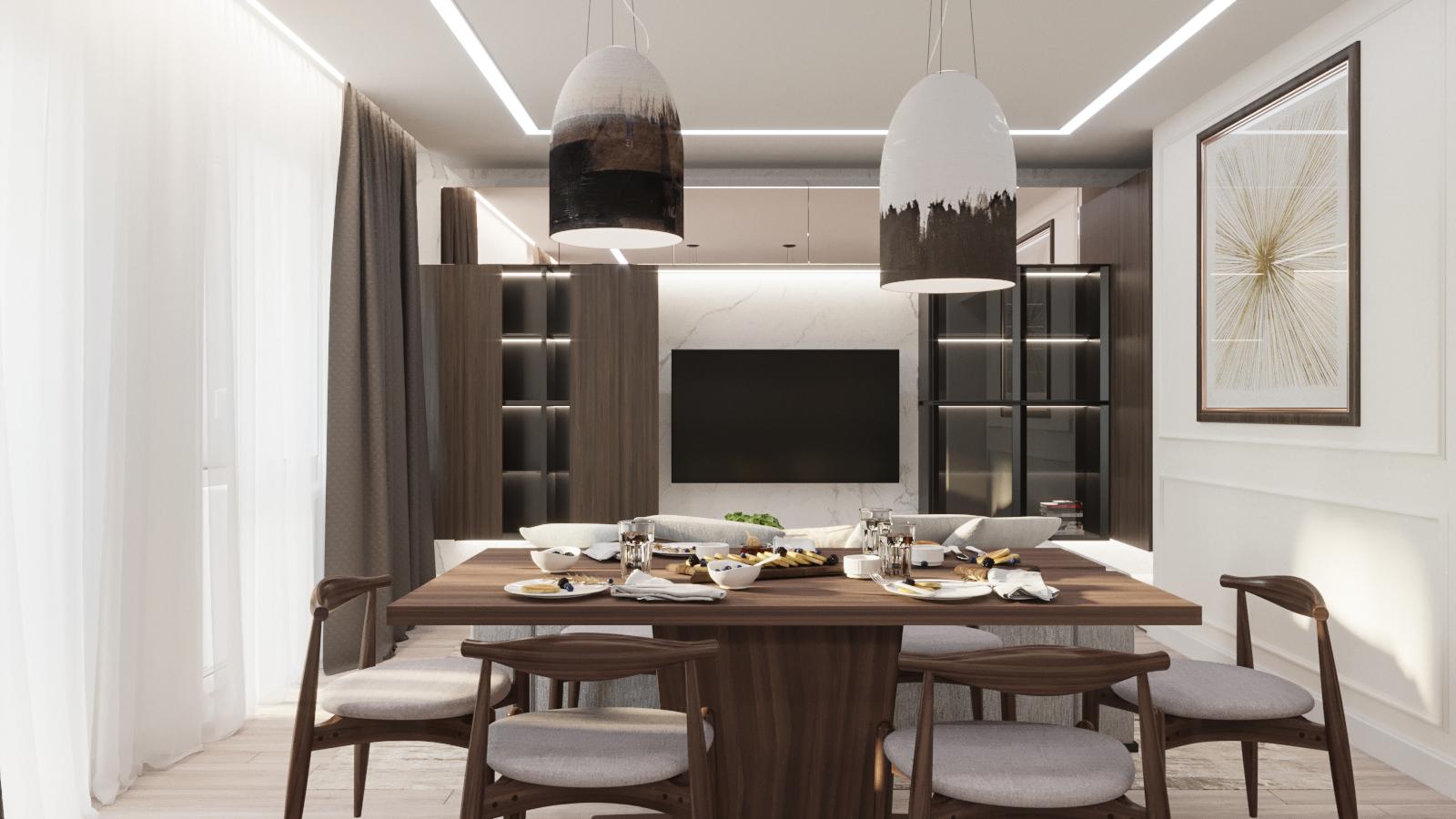 Кухня гостиная ЖК Еврокомфорт