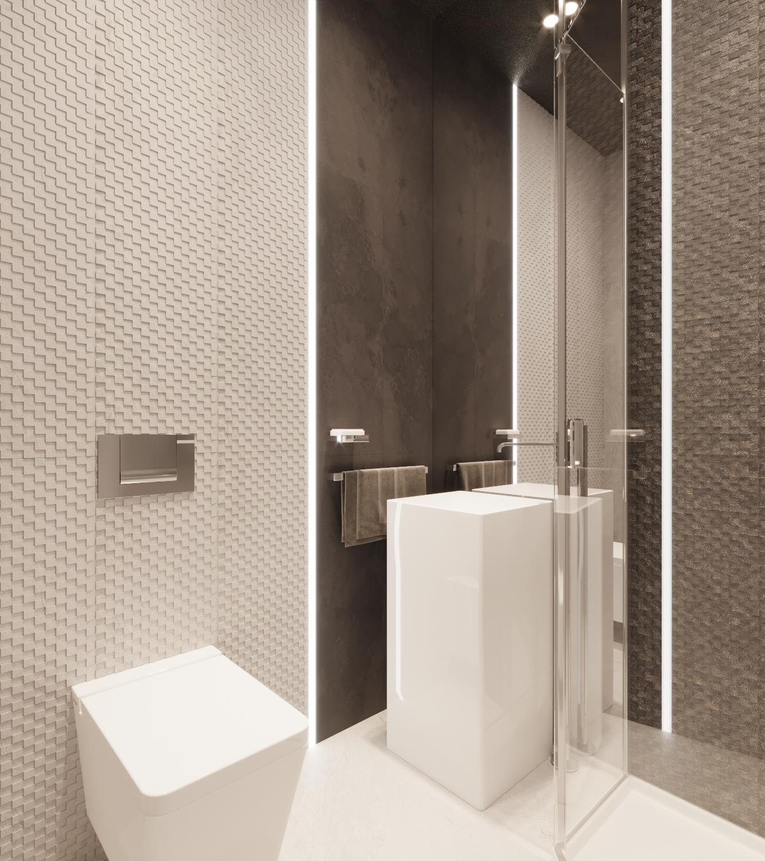 Ванная — проект квартиры в Москве 1