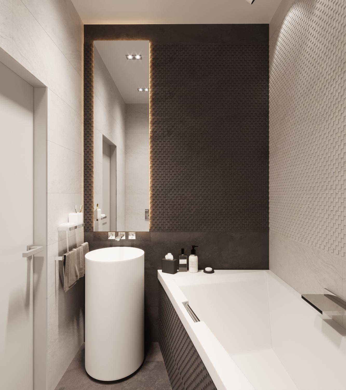 Ванная — проект квартиры в Москве 2